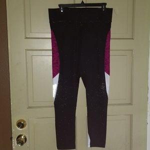 Victoria's Secret Pink Black Magenta Leggings L